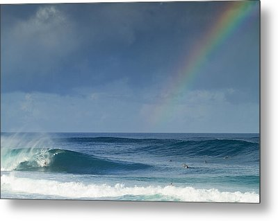 Pipe At The End Of The Rainbow Metal Print by Sean Davey