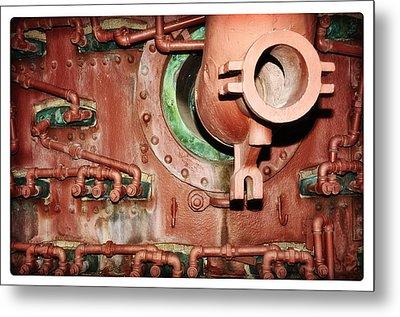 Pipe Maze Metal Print