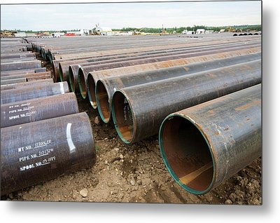 Pipeline Construction Work Metal Print by Ashley Cooper