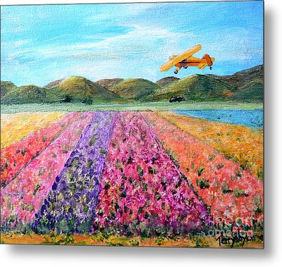 Piper Cub Sunday Metal Print by Terry Taylor