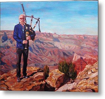 Piping At The Grand Canyon Metal Print by Janet McDonald