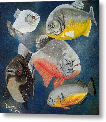 Pirahna  Fish Metal Print by Debbie LaFrance