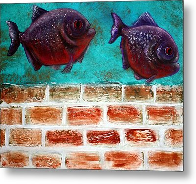 Piranha Metal Print by Laura Barbosa