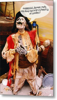 Metal Print featuring the photograph Pirate For Halloween by Gary Brandes