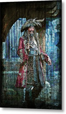 Pirate Keith Richards Metal Print