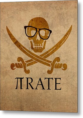 Pirate Math Nerd Humor Poster Art Metal Print by Design Turnpike