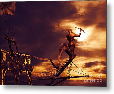 Pirate Ship Metal Print by Jelena Jovanovic