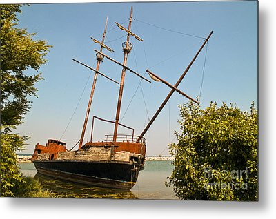 Metal Print featuring the photograph Pirate Ship Or Sailing Ship by Sue Smith