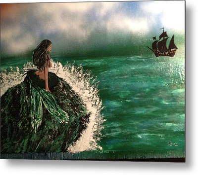 Metal Print featuring the painting Pirates Cove by Michael Rucker