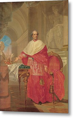 Pirovani Giuseppe, Portrait Of Cardinal Metal Print by Everett