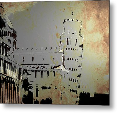 Metal Print featuring the digital art Pisa Italy 1 by Brian Reaves
