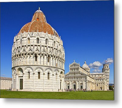 Metal Print featuring the photograph Pisa - Piazza Dei Miracoli by Kim Andelkovic