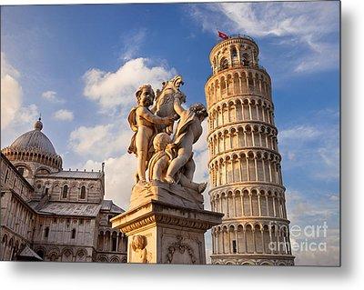 Pisa's Leaning Tower Metal Print by Brian Jannsen