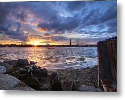 Piscataqua Sunset Metal Print by Eric Gendron