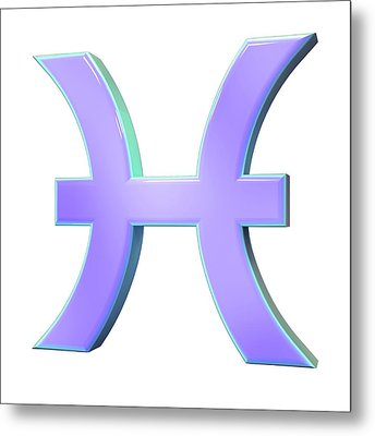 Pisces Sign Of The Zodiac Metal Print by Maurizio De Angelis