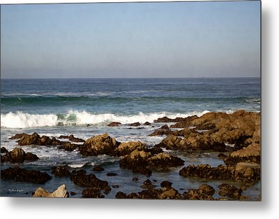 Pismo Beach Seascape Metal Print by Barbara Snyder
