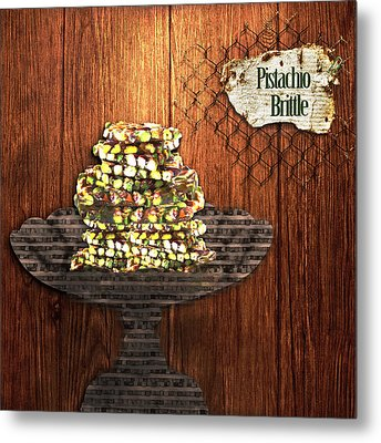 Metal Print featuring the photograph Pistachio Brittle by Paula Ayers