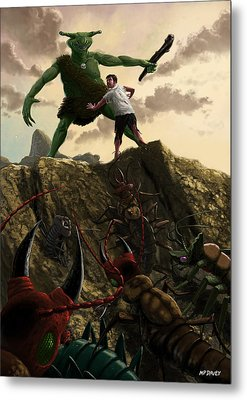 Pit Of Giant Insect Monsters Metal Print by Martin Davey