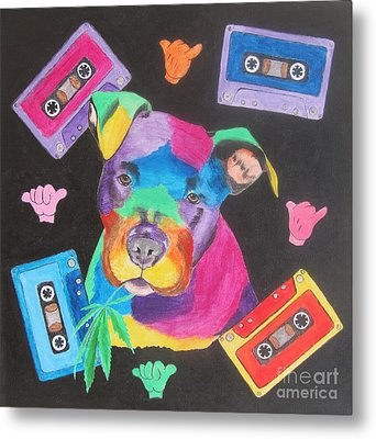 Pitbull Metal Print by Jeepee Aero