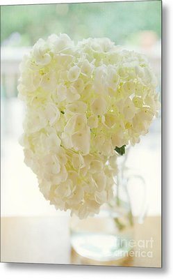 Pitcher Of Hydrangeas Metal Print by Kay Pickens