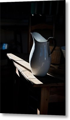 Pitcher On Table Metal Print