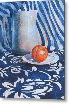 Pitcher With Fruit Metal Print by Daydre Hamilton