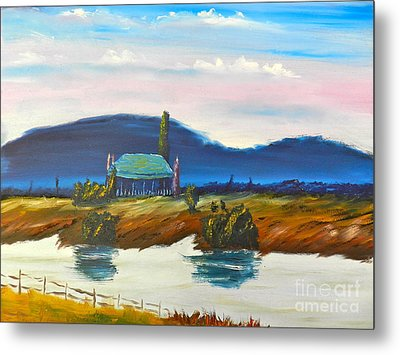 Metal Print featuring the painting Pittown by Pamela  Meredith