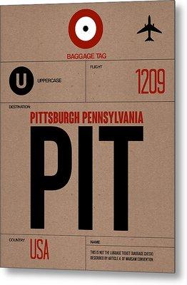 Pittsburgh Airport Poster 1 Metal Print