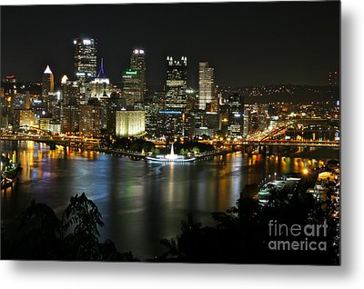 Pittsburgh Autumn Night 2 Metal Print by Jay Nodianos
