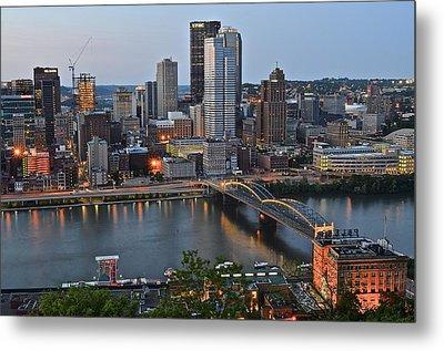 Pittsburgh Before Sunset Metal Print