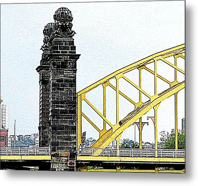 Metal Print featuring the photograph 16th Street Bridge, Pittsburgh Pa by Mary Beth Landis