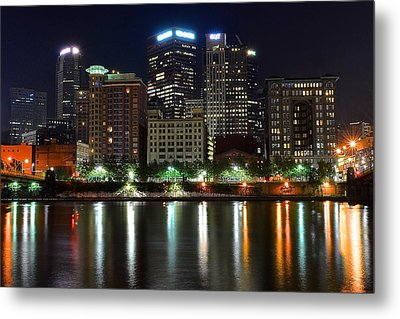 Pittsburgh From Below Metal Print by Frozen in Time Fine Art Photography