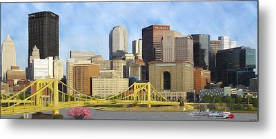Pittsburgh From Pnc Park Metal Print by David Head