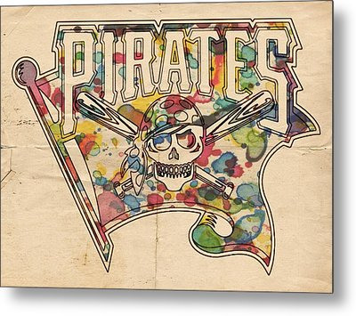 Pittsburgh Pirates Poster Art Metal Print