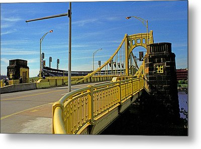 Pittsburgh - Roberto Clemente Bridge Metal Print by Frank Romeo