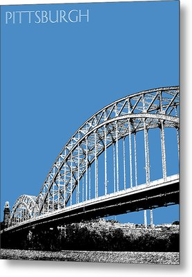 Pittsburgh Skyline 16th St. Bridge - Slate Metal Print by DB Artist