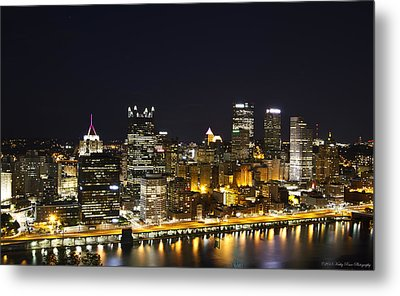 Pittsburgh Skyline Metal Print by Kathy Ponce