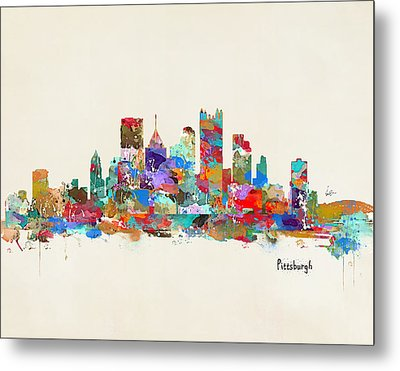 Pittsburgh Skyline Pennsylvania Metal Print by Bri B