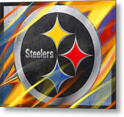 Pittsburgh Steelers Football Metal Print by Tony Rubino