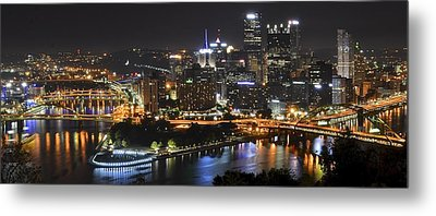 Pittsburgh Three Rivers Panorama Metal Print