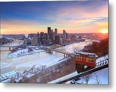 Pittsburgh Winter 2 Metal Print