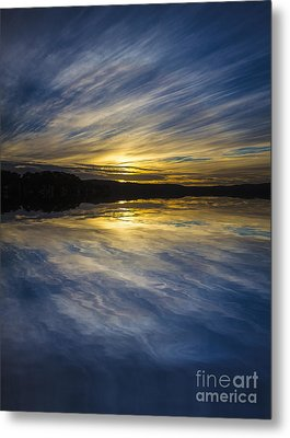 Pittwater Sunset Abstract Metal Print by Avalon Fine Art Photography