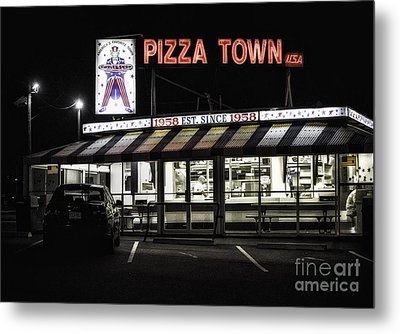 Pizza Town Metal Print