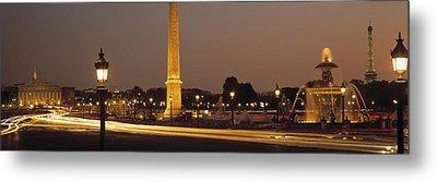 Place De La Concorde Paris France Metal Print by Panoramic Images