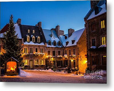 Place Royale Quebec City Canada Metal Print by Dawna  Moore Photography