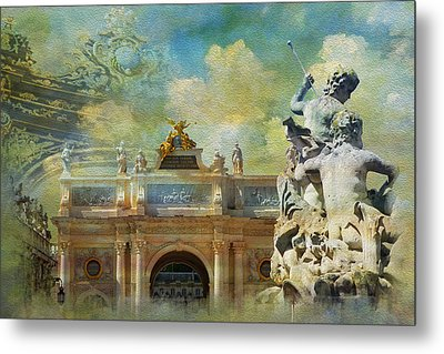 Place Stanislas Place De La Carriere And Place Dalliance In Nancy Metal Print by Catf