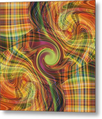 Plaid Tumble Metal Print