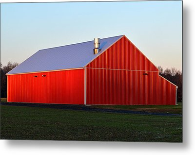 Metal Print featuring the photograph Plain Jane Red Barn by Bill Swartwout