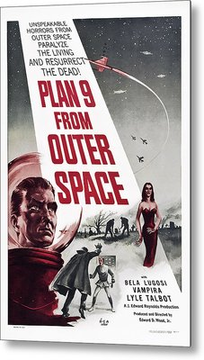 Plan 9 From Outer Space, Vampira, 1959 Metal Print