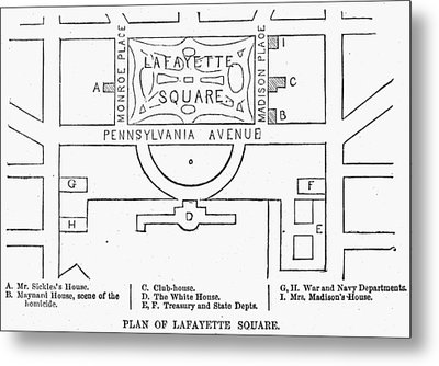 Plan Of Lafayette Square Metal Print by Granger